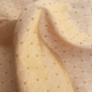 Gold beige embroidered textured upholstery fabric